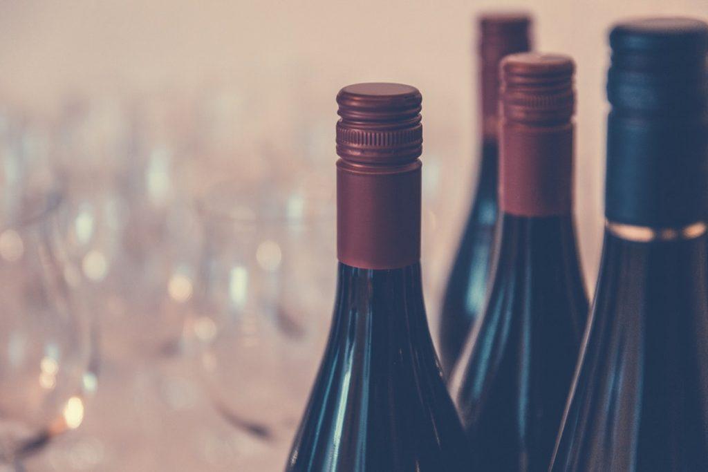 el vino en la cocina